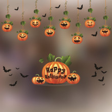 New Halloween Poster Home Decoration Accessories Electrostatic Window Glass Wall Stickers Decorations Shop Bar KTV Supplies Kids(China)
