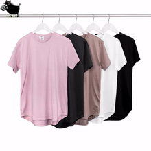 Man Si Tun 2017 Summer Pure T-shirt Wholesale Extended Long T shirt Mens Hip Hop New design Street Men Cheap T shirt Hot sell(China)