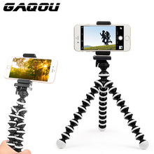 GAQOU Mini Octopus Tripod Bracket Portable Flexible Phone Holder For Gopro Camera Mobile Phone Tripods Foldable Desktop Stand(China)