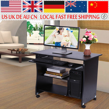 1PC Home Study Office Furniture Computer Desk with Book Shelves Cupboard PC Laptop Table Office Work Computer Table