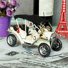 American Antique Handwork Racing Car Models Retro Classic Cars Home Coffee Shop Bar Furnishings Decor(China)