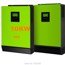 Hot Sell Solar Inverter 10KW Grid-tied Inverter 48V to 220V 12KW MPPT Inverters Pure Sine Wave Hybrid Inverter 60A AC Charger
