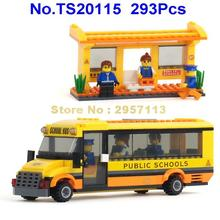 TS20115 293pcs City Public School Bus Building Block Brick Toy(China)