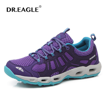 DR.EAGLE Sneakers Woman Hiking shoes outdoor super light breathable mesh Women Walking Sneakers sport trekking boots shoes