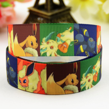 7/8'' (22mm) Pokemon Cartoon Character printed Grosgrain Ribbon party decoration satin ribbons X-01176 OEM 10 Yards
