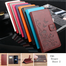 Buy BOGVED Secret Garden Series Luxury high PU leather case Doogee Shoot 2 Shoot2 Cover Shield Case Bag for $4.92 in AliExpress store