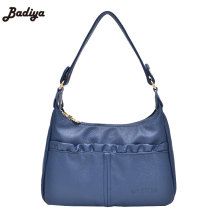 Discount Women's Handbags Leather PU Pleated Strap Shoulder Bag For Mom Gift Vintage Lady Bag Purse Small Flap Bolsos Mujer Bag