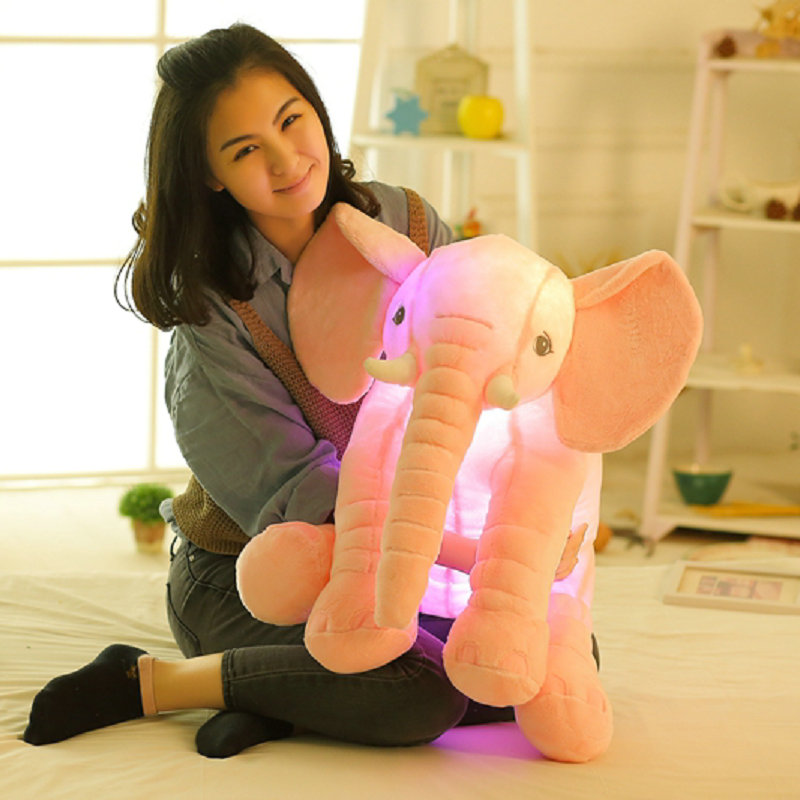 Cute music Elephant Plush Toys Flashing elephant cloth doll birthday gift stuffed plush animals doll(China)