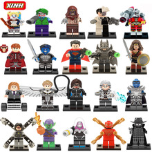 Marvel Super Hero Suicide squad Avengers Batman Harley Quinn Joker Building Blocks Action Figure Baby Kids Toys(China)