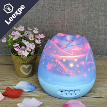 Spin 4 Colors Buds Starry Lamps Colorful Rose Night Light Children Decorative Festive Gifts Bedrooms LED Starry Table Lamps