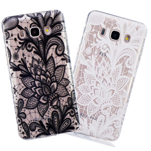 Floral Sexy Lace Case For Sasmung Galaxy j1 j3 j5 j7 2016 A3 A5 2017 S3 S4 S5 Mini S6 S7 edge Wave Fashion Flower Clear Cover