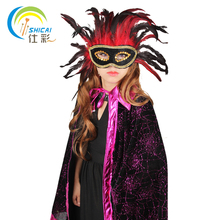 Free shipping Halloween dance party activities powder cloak dress props vampire witch witches play Supplies Christmas Costumes(China)