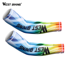 WEST BIKING Cycling Sleeves Bicycle Arm Warmer UV Protection Arm Sleeves Bike Warmer Manguito Ciclismo Riding Sports Arm Sleeves
