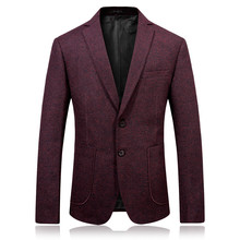 2017 autumn men's fashion casual red blazers men coats jacket classics business woolen blazer man suit full size M-3XL