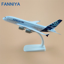 20cm Airbus 380 A380 Plane Model Air Prototype Airplane Development Aircraft Airplane Model Airways w Stand Aircraft(China)