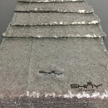1 DAY Ship Grey Sequin Table Runner Wholesale Sequin Table Cloths Sequin Linens For Wedding Party Decoration