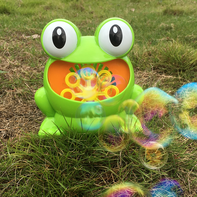 Frog Hippo Battery Power Automatic Bubble Machine Maker For Kids Indoor Outdoor