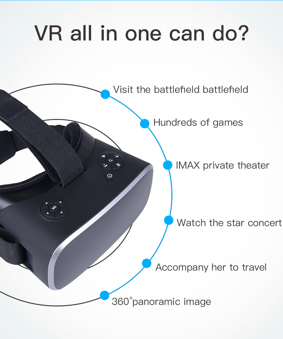 vr headset vr glasses virtual reality for pc HDMI All In One virtual glasses for computer VM06_3