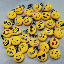 Fast shipping 30pcs 6cm Novelty Emoji Small Pendant Smiley Emoticon Soft Plush Toys Key&Bag Chain Phone Strap