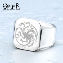 New Game Of Thrones Targaryen House Logo Fire Dragon Ring Jewelry Wholesale Factory Price Movie Jewerly BR8-196