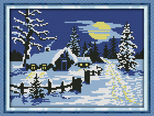 Red sun snow, counted printed on fabric DMC 14CT 11CT Cross Stitch kits,embroidery needlework Sets, Home Decor