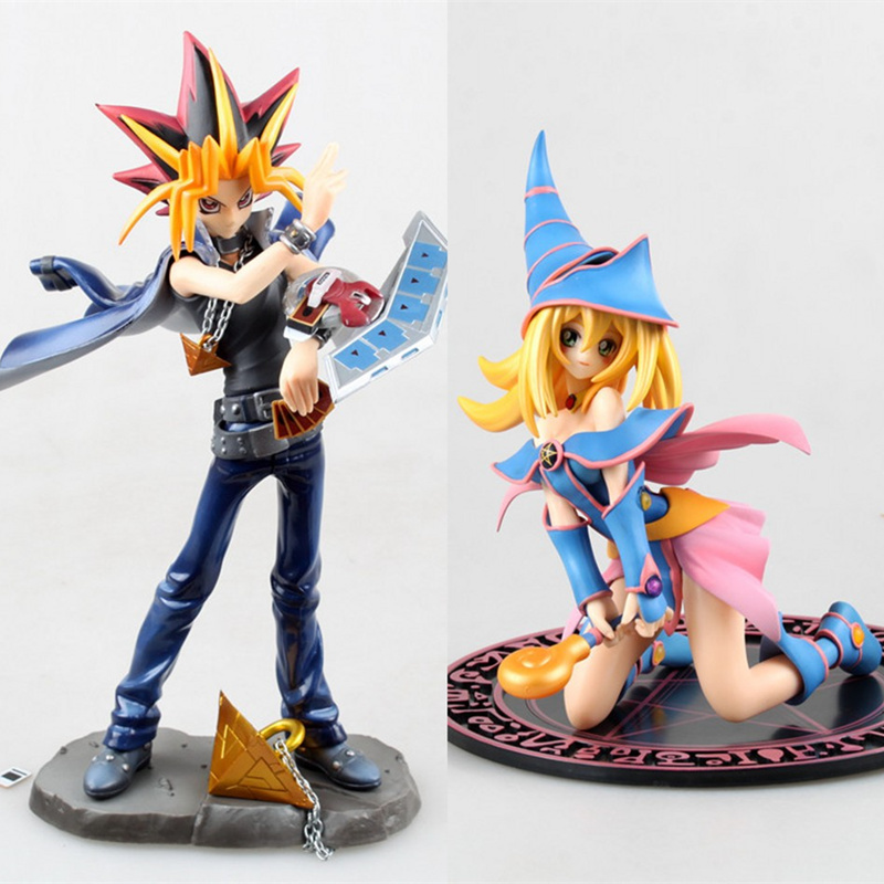 Anime Yu-Gi-Oh Duel Monsters Yami Yugi Black Magician Girl PVC Action Figure Collectible Model doll toy 20cm Юги Муто