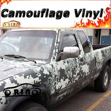Military Green Digital Camo Vinyl Car Film Air Free Pixel Camouflage Wrap Decal Car Sticker Size: 1.52*5/10/15/20/25/30 Meters