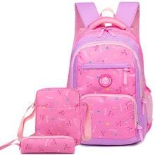 dc5e098b969 Kinderen schooltassen set meisjes kids orthopedische rugzak basisschool  rugzak prinses schoobag kids satchel mochila infantil(