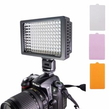 HD-160 White Light LED Video Light on-Camera Photography Lighting Fill Light for Canon/ Nikon DSLR Camera with 3 Filter Plates