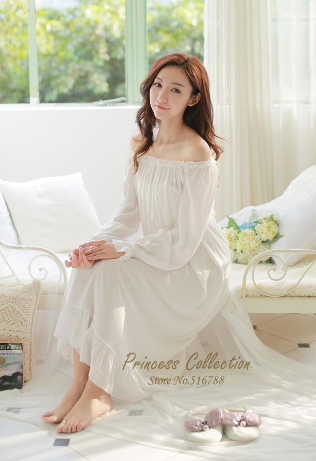 Aliexpress.com : Buy Free Shipping Princess Nightdress Long White ...