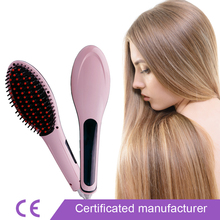 110-240v Original Escova Alisadora Electric Smooth Brush Ceramic Hair Straightener TV Comb Flat Iron with LCD Straight Brush