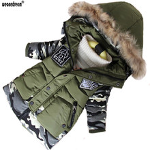 WEONEDREAM New Boys Parka Childen Winter Jackets Warm Boys Clothes Kids Baby Thick Cotton Down Jacket Cold Winter Outwear(China)