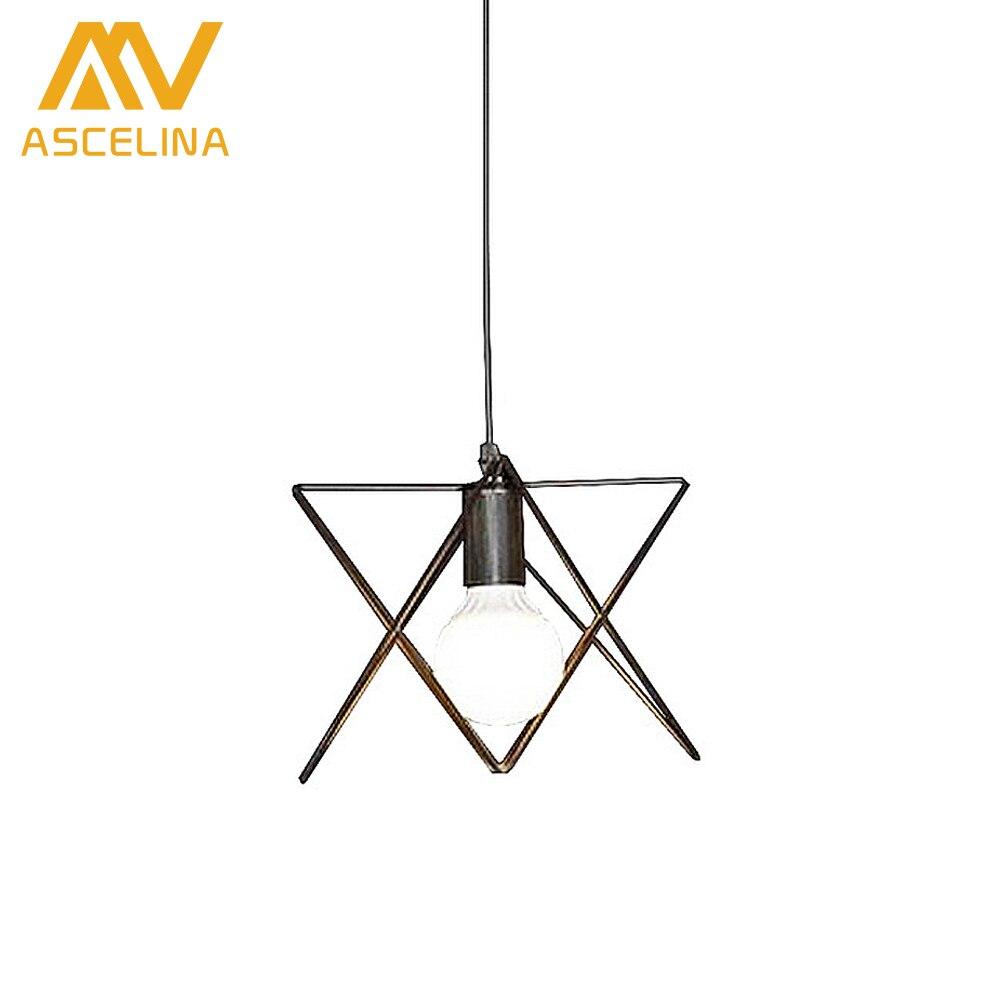 ASCELINA American Retro Loft Pendant lights Industrial Style led lamp Home lighting Bar Restaurant Cafe e27 Light Wrought Iron<br>