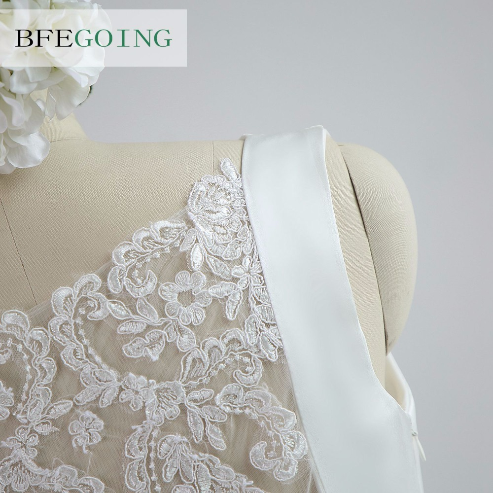 A-line Satin Boat Neck Wedding dress Floor-Length Chapel Train Sleeveless Beading Belt Real/Original Photos Custom made 6