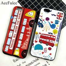 3D Relief Bus Soft Case For iPhone X 6 6S Car Phone Case For iPhone 7 8 Plus TPU Travel Bus Back Cover(China)