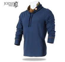 JOZSI Outdoor T shirt Cotton Full long Sleeve For Men Active Style Sports Hiking Camping Trekking T-Shirt