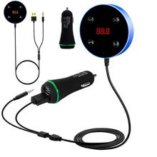 2 in 1 Auto Blue-tooth Wireless FM Transmitter MP3 Hands Free Dual USB Car Charger Adapter (Black)(China)