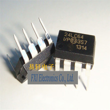 Free shipping 20pcs/lot 24LC64-I/P 24LC64 64K I2C bus serial EEPROM Authentic Original