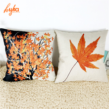 Cushion Maple Leaf Canadian Style Cotton Linen Pillow Cushion Sofa Bedroom Home Decorative Throw Pillow Cushion New Degin(China)