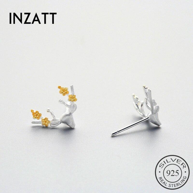 Korean Zircon Lovely Graceful Classic Women Flower Earrings Plum Blossoms Stud
