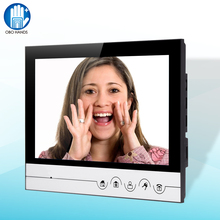 9inch TFT Video Door Phone Intercom System Sliver/Golden Doorbell Indoor Unit Monitor Support 32G TF memory Card Record video