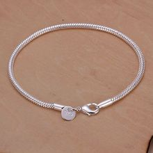 Free shipping 925 jewelry silver plated  jewelry bracelet fine fashion bracelet top quality wholesale and retail SMTH187