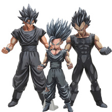 26cm dragon ball z super saiyan son goku vegeta gohan msp master stars piece goku black chocolate PVC action figure toy(China)