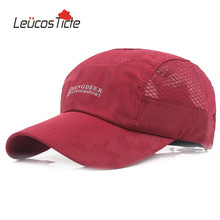 LeucosTicte 2017 Spring and Summer Men's Fashion  Sun Hats Lady Sunscreen Baseball Cap Breathable Sports Net Hat