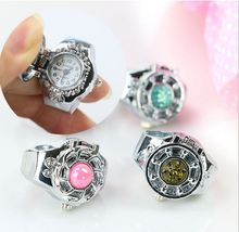 new ring watch creative flower electronic watch ring mix design restoring ancien students men and women