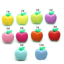 plastic button buttons color children 's clothes animal apple buckle 15mm crafts and scrapbooking products for crafts
