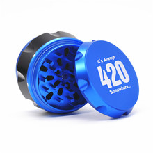 1 X New Arrival Aluminum Dia.56MM 4 Parts Tobacco Grinder Crusher Herb Spice Grinder CAN CUSTOMIZE YOUR LOGO