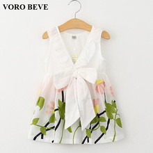 VORO BEVE Summer Dresses 2017 Girls Dress Girl Clothes Vestidos Children Dress Sleeveless Princess Dresses for Girls