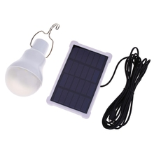 140LM Solar Powered Lamp Portable Solar Panel Led Bulb Outdoor Garden Light led Lighting For Camp Night Travel Used 5-6 hours(China)