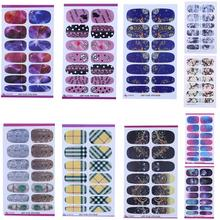 Nail Art Sticker Fashion Full Cover Image Decals DIY Tips Gel Builder Manicure Polish Fingernail Design Stickers Decoration(China)